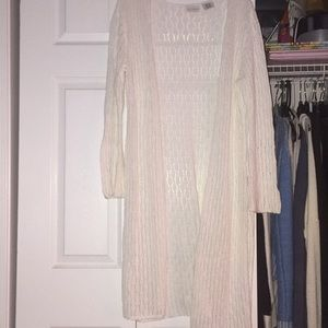 White stag long cardigan